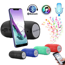 HIFI  Portable Bluetooth Speaker Stereo Column Subwoofer Speakers Support FM Radio USB AUX Place speakers on mobile phones