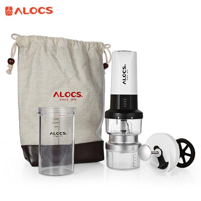 Alocs Grinder Electric Easy Coffee Maker Blades Tableware Portable Outdoor