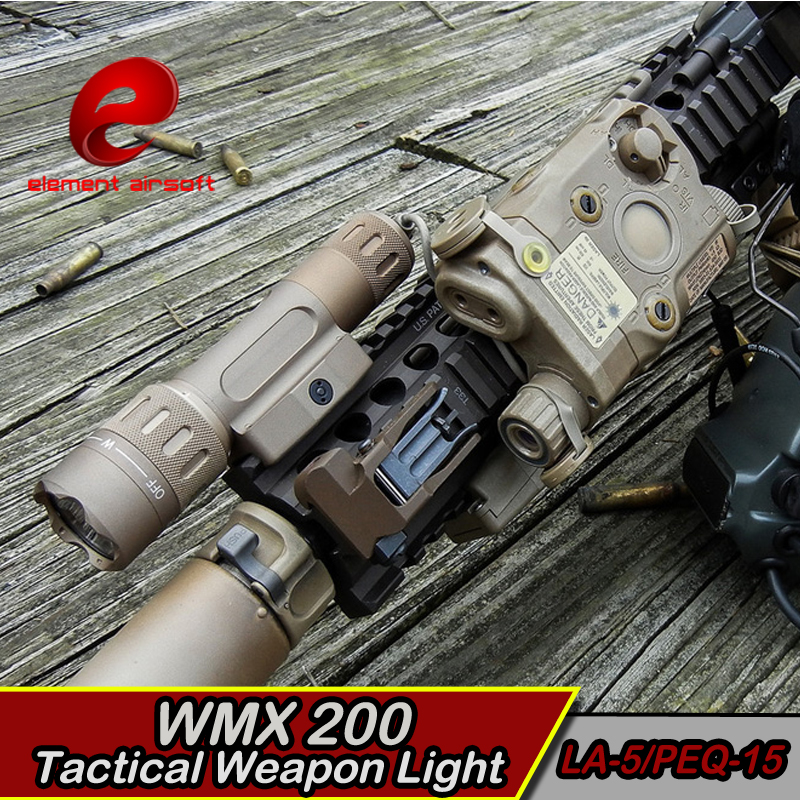EX418 lanterna Airsoft LED light Tactical kit includes LA-5/PEQ-15 WMX200 Flashlight Double Remote Control Fits For 20mm Rail wipson lanterna airsoft led light tactical kit includes la 5 peq 15