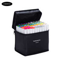 Art Marker 30/40/60/80/168Colors Alcohol Based Pen Markers Dual Head Sketch Markers Brush Pen For Draw Manga Design Art Supplies