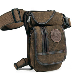 حقيبة خصر فاني جديدة للرجال مصنوعة من قماش القنب حقيبة سفر عسكرية متعددة الأغراض حقائب كتف ساعي البريد