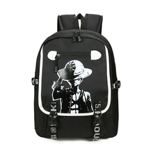 Anime One Piece Cosplay Monkey D  Luffy Cos Teenage personality student fashion trend Korean version of the campus backpack