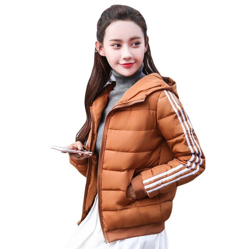 Autumn Women Jacket Coat 2019 New Fashion Girls Short Winter Hooded Coat Warm S-3XL Zipper Army Green Long Sleeve   Parkas   Female