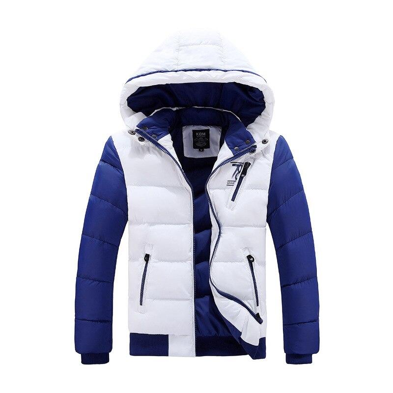 ФОТО Winter men's  plus thick velvet coats short paragraph men Slim Fit padded Hooded cotton jacket high quality