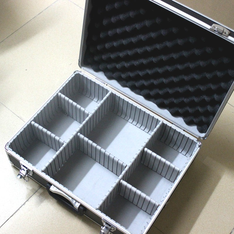 455x345x150mm Aluminum Alloy Multifunctional Toolbox Suitcase With Lock Suitcase Storage Box