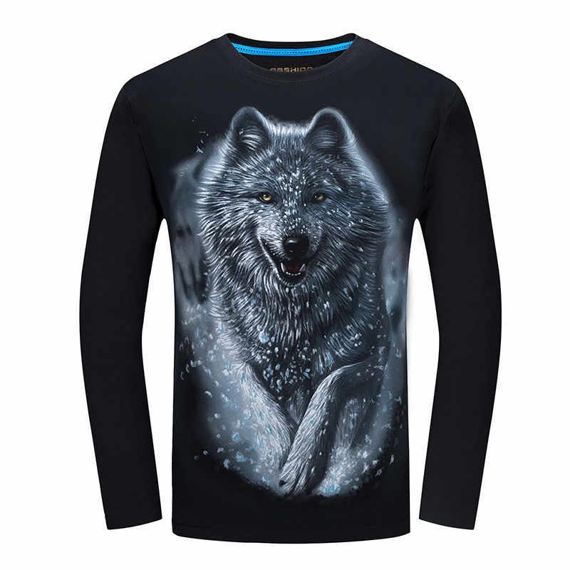 2018 самая дешевая модная мужская футболка с длинным рукавом крутой дизайн  3d забавная футболка homme с 0851ea2d5a80e