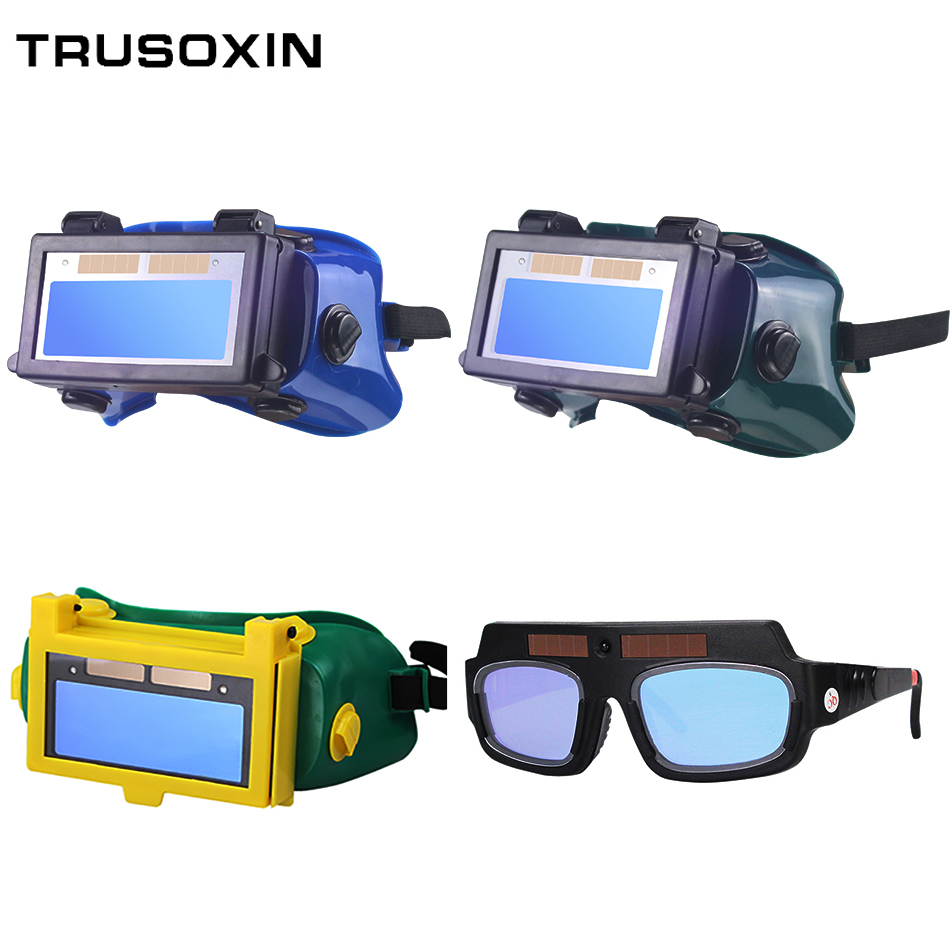 Solar Auto Darkening Eyes Mask Welding Helmet Welding Mask Eyeshade/Patch/Eyes Goggles For Welder Eyes Glasses(China)