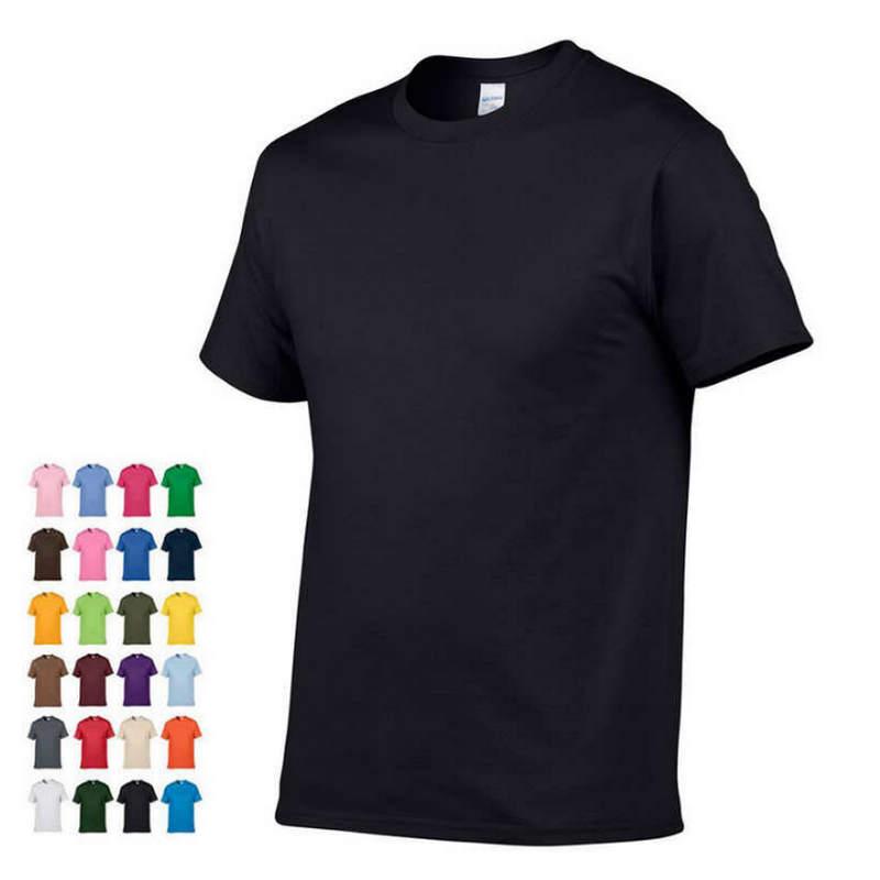 2019 New High quality men T shirt casual short sleeve o-neck 100% cotton t shirt men brand white black tee shirt