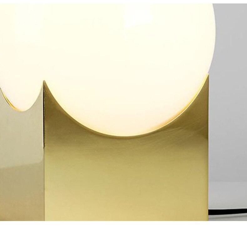 Glas Gold Tisch Lampe Kreative Büro Tisch Lampe Nordic Moderne Minimalistischen Post moderne tisch lampe Hause Schlafzimmer Studie Zimmer - 5