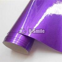 Mejor Calidad Violeta Metálico Brillo Púrpura Vinilo Engomada de la Película de La Burbuja Libre Para El Coche que Envuelve Tamaño: 1.52 M x 20 M