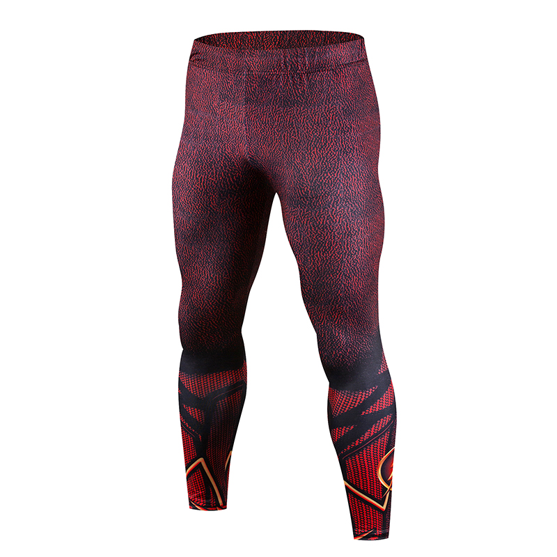 Crossfit Skinny Pants Mens Casual Skinny Pants Fitness Pants Latest 3D Printing Panther Compression Pants Mens Fashion Brand