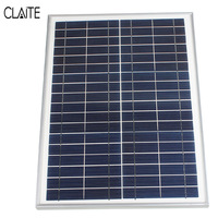 12V 20W Polycrystalline Solar Panel Stored Energy Power Poly Module System Solar Cells Charger 300cm Cable
