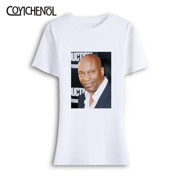 John singleton short sleeves oversize customize print tshirt woman tops large size solid color top o-neck casual regular tshirt image