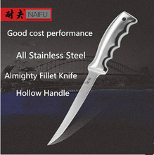 Free Shipping NEEF Stainless Steel Kitchen Fillet Knife Stainless Steel Eviscerate Fish Sculpture Knife