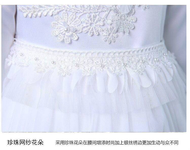 Flower Girl Dress Simple Design Ақ Ұзын Vestidos 3-14 - Балалар киімі - фото 5