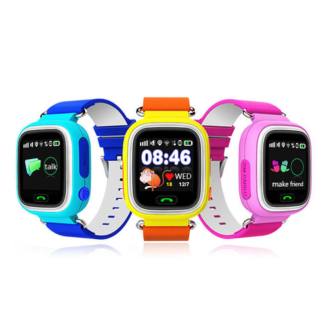 2016 gps smart watch q90 pantalla táctil wifi ubicación niños bebé SOS Llamada Kid Safe Anti-perdida Buscador Track Monitor Dispositivo PK Q50