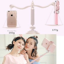 Vitopal Aluminum Mobile Selfie Stick Monopod Remote Control with Wide Angle Lens for iPhone Android