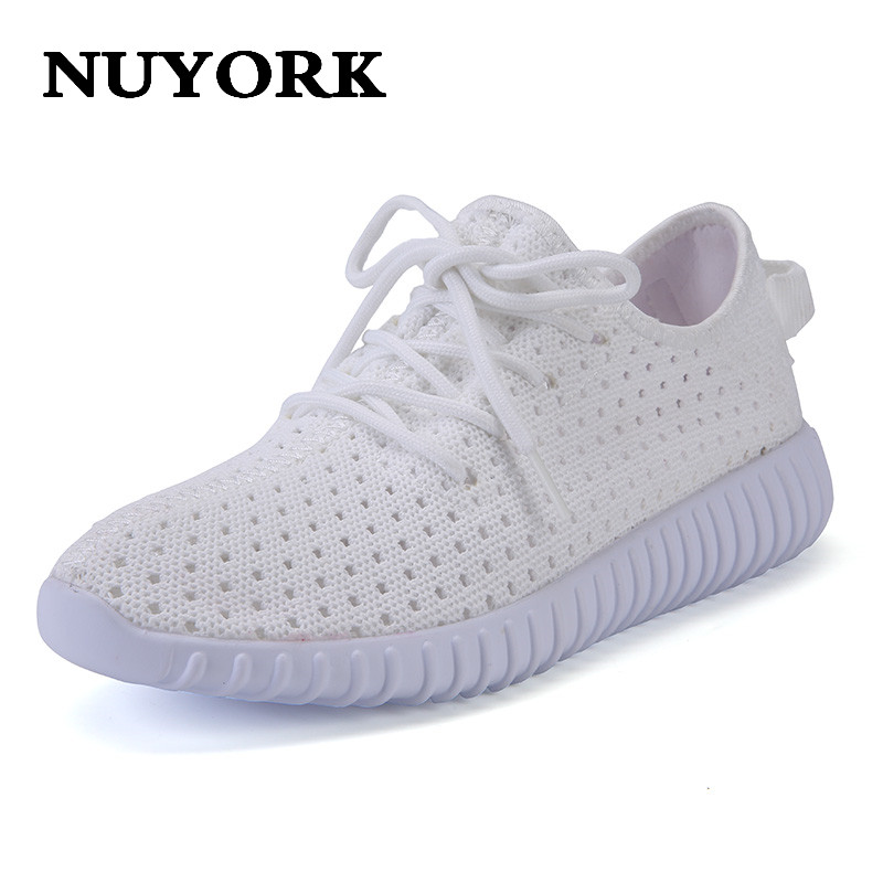 Nuyork Hot sale 2017 New Mesh womenflat shoes Summer Shoes women Low To Help Breathable women