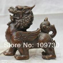 Бир 001111 Подробная Информация о Китайской Народной приобретения Латунь Бронзовая Статуя Лаки Фэн-Шуй-Фу D