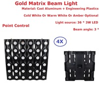 4 Pack 3 Color Optional DMX Wall Washer Lights 36X3W LED Matrix Beam Light 5 36