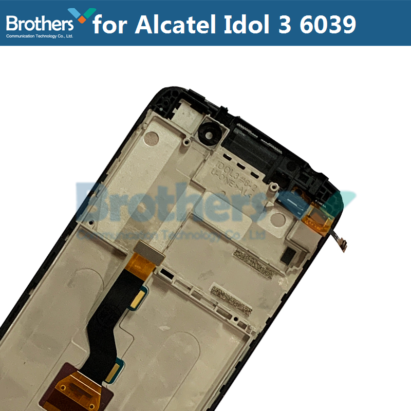 LCD Screen For Alcatel Idol 3 6039 6039A 6039K 6039Y LCD Display With Touch Screen Digitizer Assembly With Frame Replacement Top (4)
