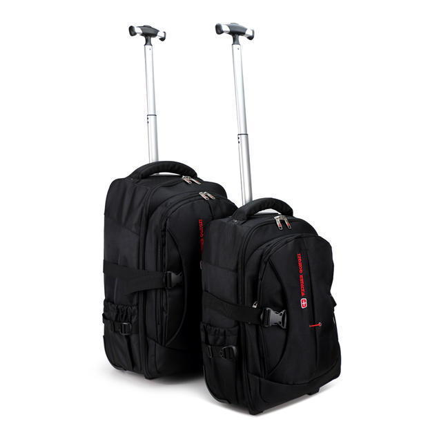 Men Business Travel Duffle Carry On Suitcase Wheels Computer ...