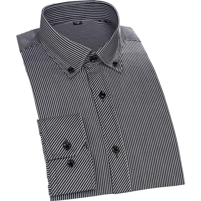 2016 hommes rayé chemises d'affaires mode Chemise hommes décontracté Slim Fit couleur bonbon Chemise Homme vT034