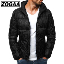ZOGAA Winter Men Warm Parkas Coats Cotton Thick Printed Hooded Jackets Parkas Male Zipper Padded Slim Fit Outerwear Coats 2019 karen templeton a gift for all seasons