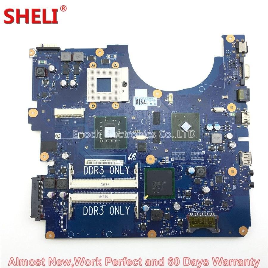 SHELI BA92-06345A BA92-06345B Laptop Motherboard For Samsung R530 NP-R530 BREMEN-L3 091124 BA41-01227A Main Board System Board