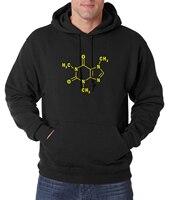 Adult Sweatshirts Caffeine Molecular Formula Sheldon Men Hoodies 2016 Autumn Winter Style Fleece Men Hoody Science