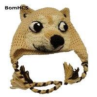 Cute Dog Animal Handmade Knitted Hat Women S Winter Warm Cap Halloween Gift