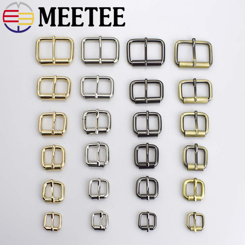 5pcs Meetee 1.3-3.8cm Metal Shoes Bag Belt Strap Pin Buckles Decoration DIY Leather Craft Repair Accessory Sewing Accessories