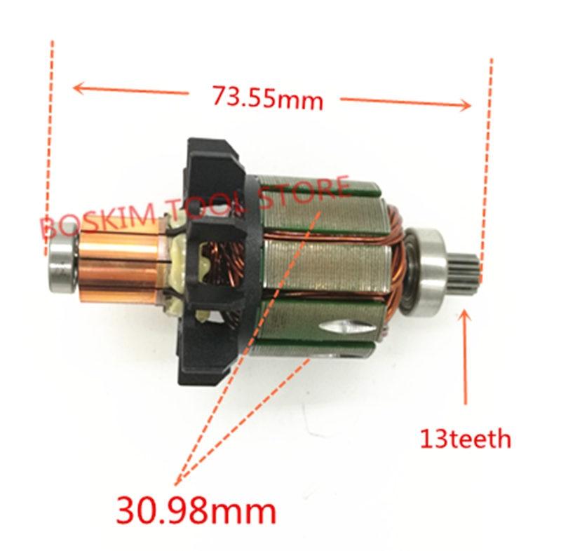 Armature 18V Motor For MAKITA 619263-3 619287-9 DDF456Z DF456D DDF456RFE3 Rotor BDF456RFE DDF456 BHP456 BDF456 DDF456RME