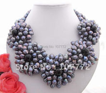Charming Faceted Agate Cultural Flower Necklace Necklace free shippment