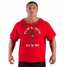 Men's T Shirts Golds Fitness Men Bodybuilding Gorilla Wear Shirt Batwing Sleeve Rag Tops
