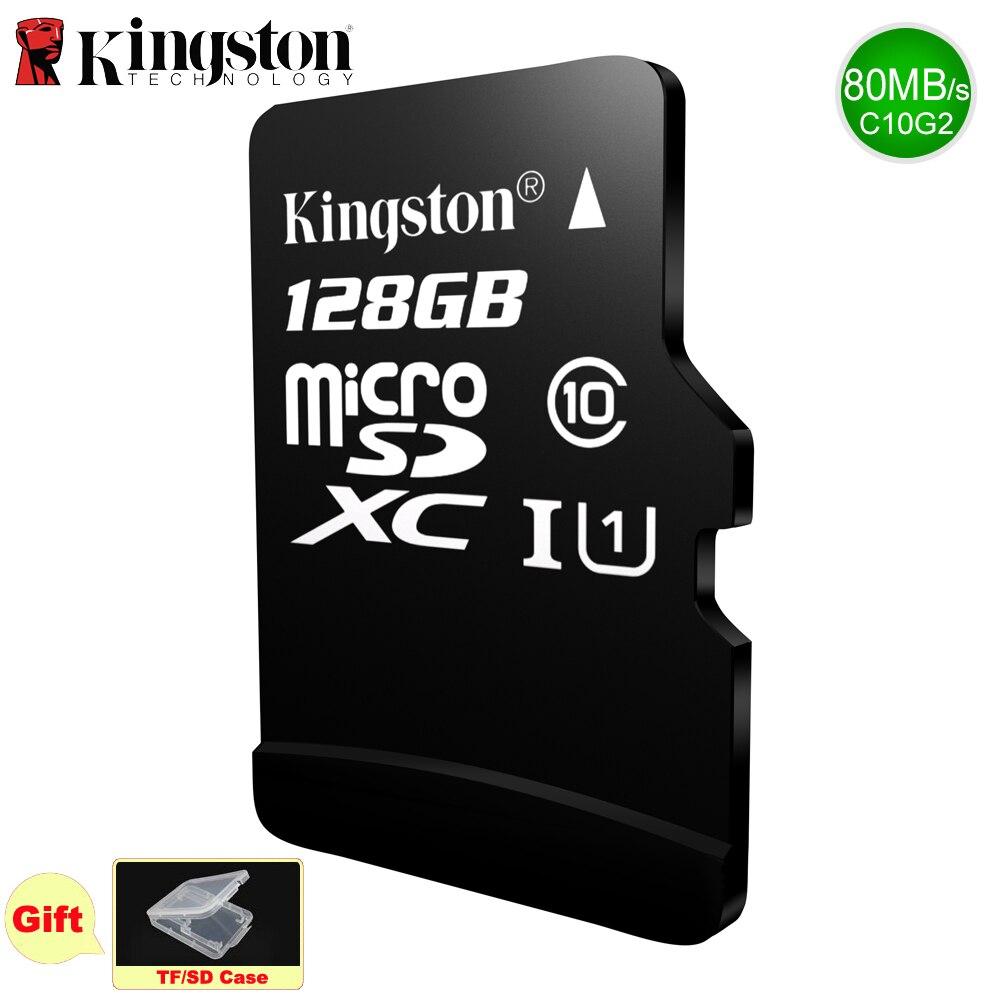 Cartão De Memória Kingston 128GB Class10 Cartão Micro SD SDHC/SDXC Tf C10 UHS-I Cartão gravador de Carro Flash memoia Cartão Para Celular