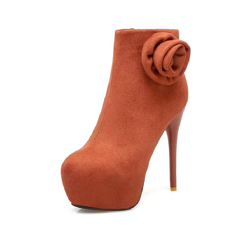 ankle boots for women winter boots women high heel female platform boots sexy flower fashion shoes woman free shipping &X11 цены онлайн