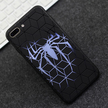 Super Hero Spiderman Batman Phone For iPhone 7 8 Plus Case Superman iron Man Back Cover For iphone X  6 6s Case Relief Embossing