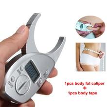 1 шт. тела жира мониторы суппорта электронный цифровой тела жировой анализатор PLICOMETRO+ рулетка пакет кожи мышечный тестер
