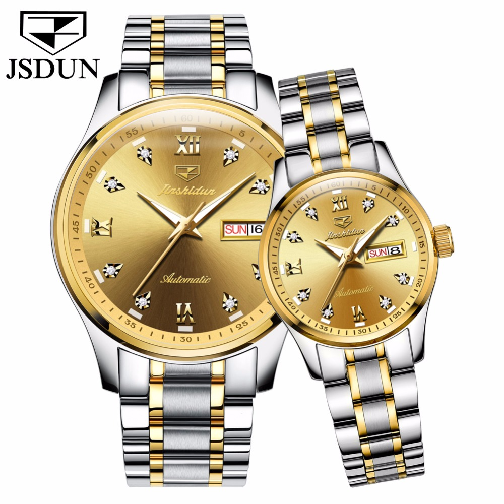 Women Watch Men Famous Brand Luxury Couple mechanical watches Fashion Automatic Calendar Week Ladies business watch relogio saat waterproof watch for women nuodun top brand hot sale ladies business watch with calendar week woman wristwatch assista mulher
