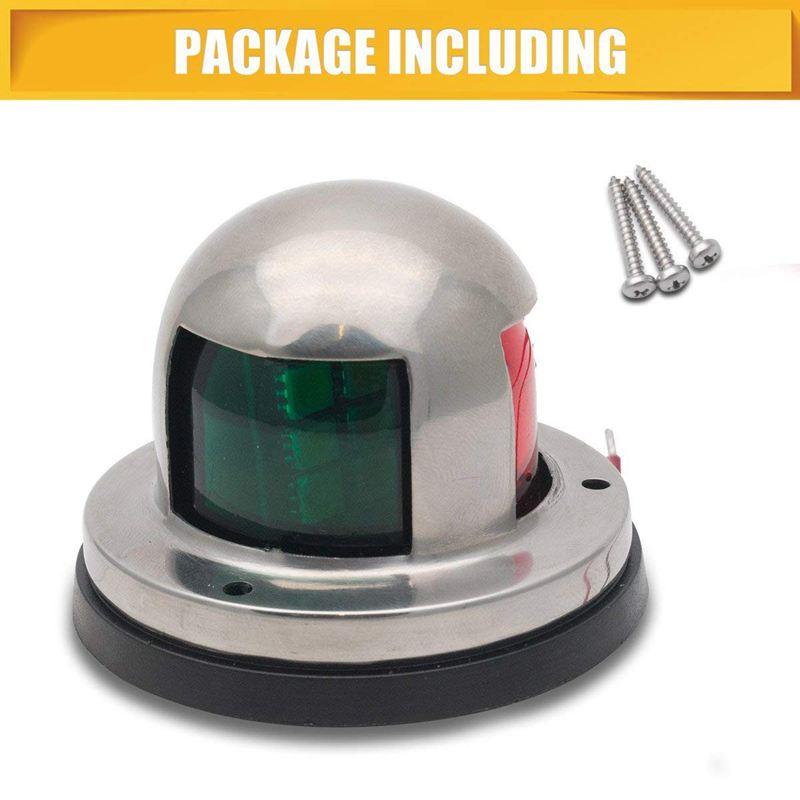 Освещение сигнала лодки, 2 в 1 зеленый и красный из нержавеющей стали морские яхты лук навигации светодиодный свет пакет 1