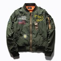 The U.S. air force badge embroidery baseball uniform flight jacket to the new 2017 men and women fashion jacket coat