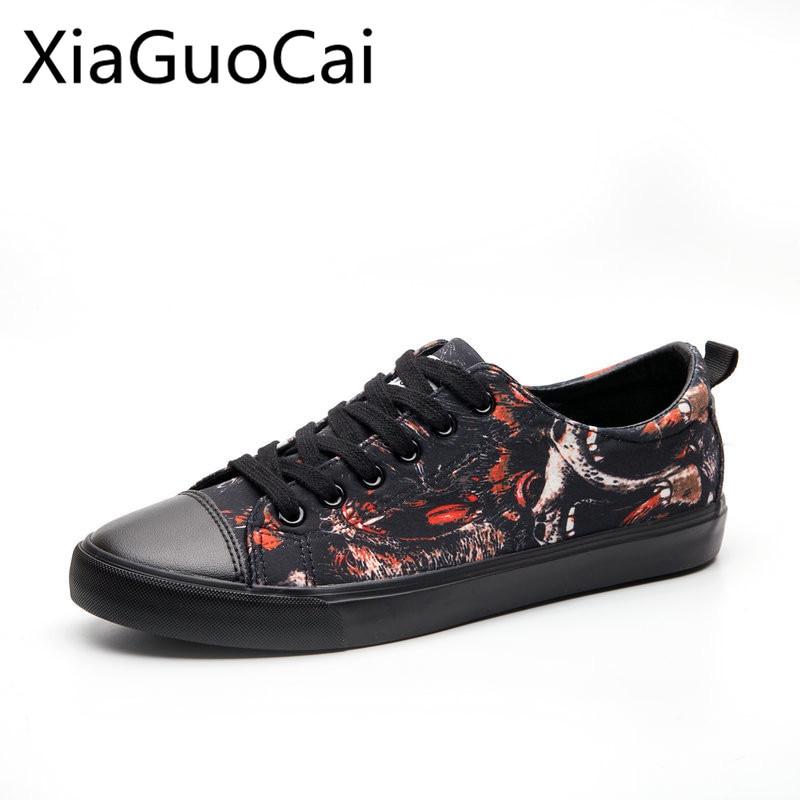 Automne Nouveau style des hommes en toile chaussures