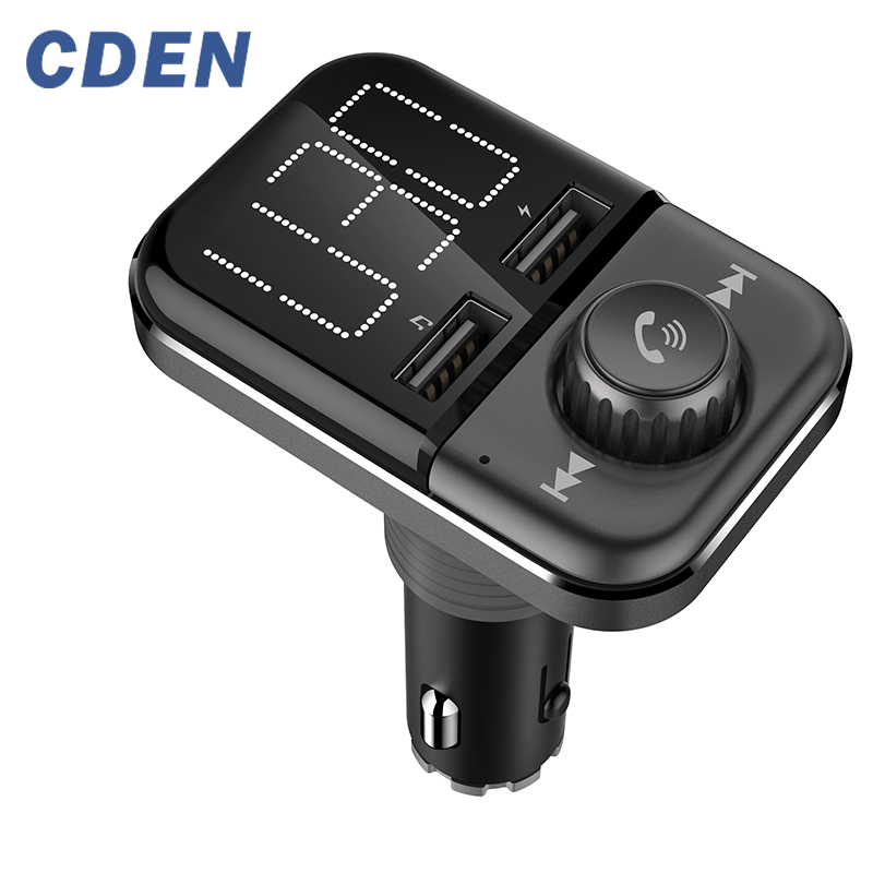 FM Transmitter Bluetooth Wireless Audio Adapter Car Kit with Dual USB Charging Ports 1 4 inch Big LCD Display and Hands Free in Car MP3 Players from Automobiles Motorcycles