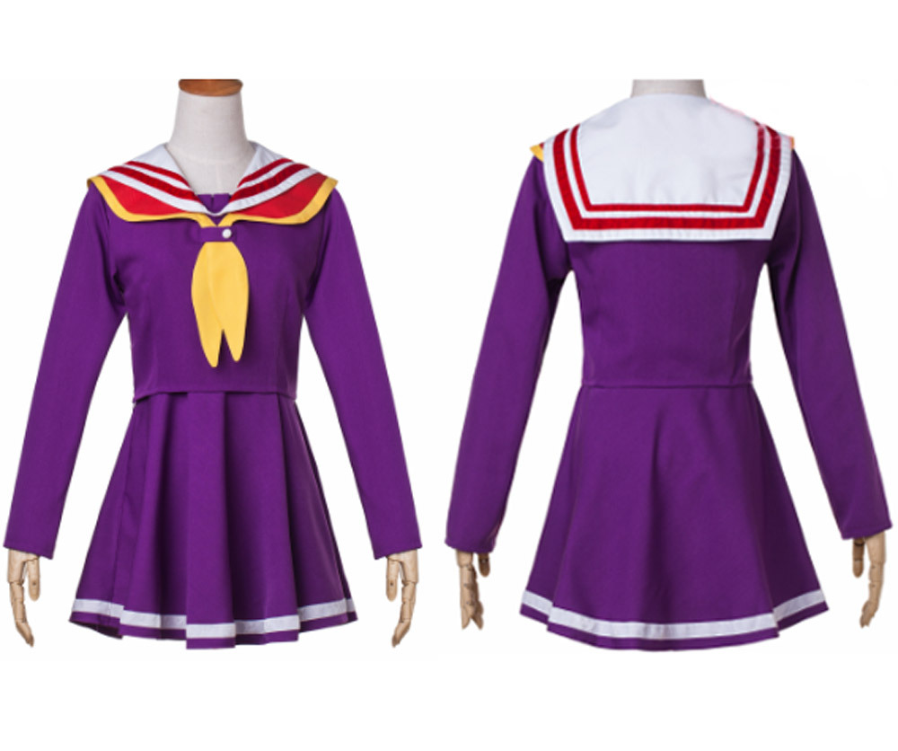 Hot Anime No Game No Life cosplay costume school uniform lolita girls party dress