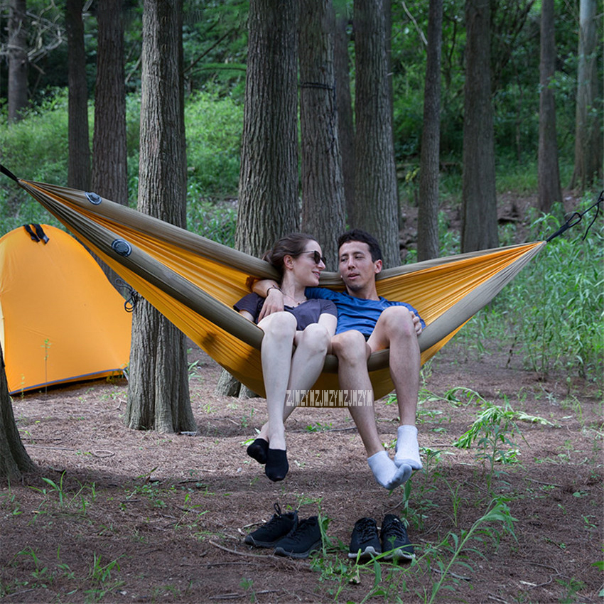 Outdoor Furniture Nh18d002-c Self-driving Travel Camp Inflatable Tube Hanging Bed Outdoor Indoor Home Sleeping Swing Dormitory Sandbeach Hammock Hammocks