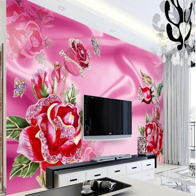 beibehang Large Custom Wallpapers Luxury European Jewelry Lace Rose ...