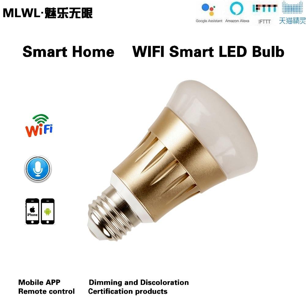 Купить с кэшбэком Smart WIFI Lighting Remote Control 3WRGB Led Bulb Light E27 6W LED Bulb