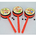 Baby Rattle Drum, Chinese Style Lucky Drum-Shaped Rattles Children's Educational Toys Kids Toys W421