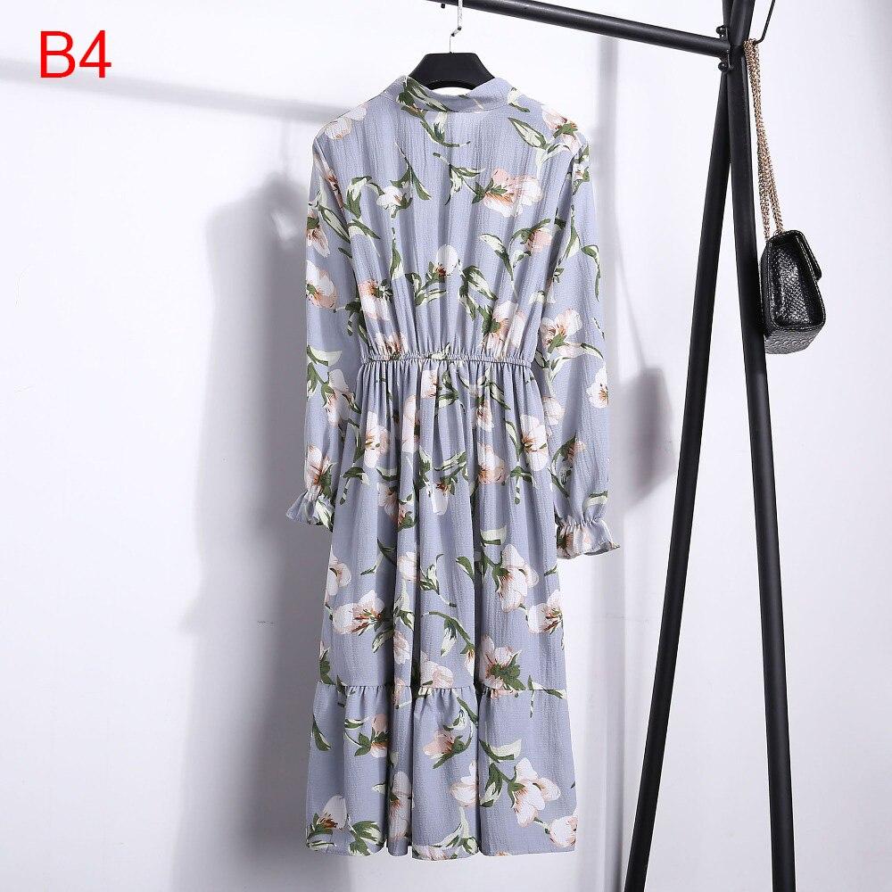 Korean Black Shirt Vestidos Office Polka Dot Vintage Autumn Dresses Women Winter Dress 19 Midi Floral Long Sleeve Dress Female 90